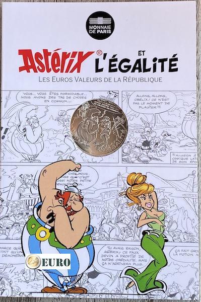 10 euros France 2015 - Asterix égalité Prédictions du Devin - en cartelette