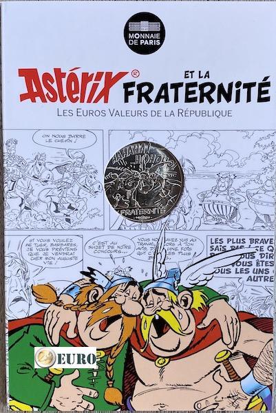 10 euros France 2015 - Asterix fraternité Chez les Belges - en cartelette