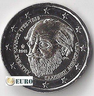 2 euros Gréce 2019 - Andreas Kalvos UNC