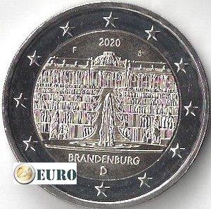 2 euro Duitsland 2020 - F Brandenburg UNC