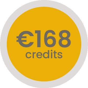 168 euro op je klantenrekening (-4,8%)