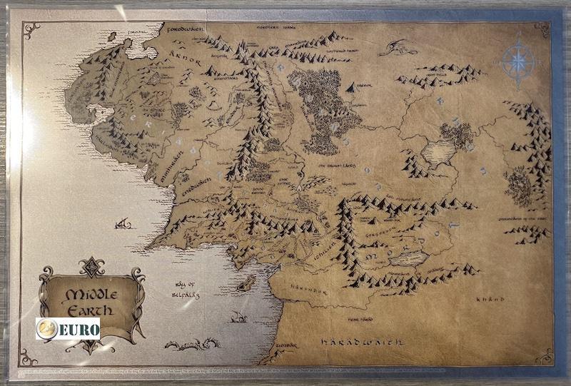 2 NZD Dollar Niue 2021 - Midden-Aarde kaart Lord of the Rings Zilver