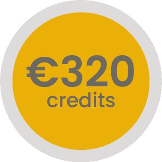 320 euro op je klantenrekening (-6,25%)
