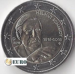 2 euros Allemagne 2018 - G Helmut Schmidt UNC