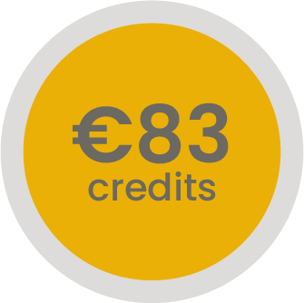 83 euro op je klantenrekening (-3,6%)