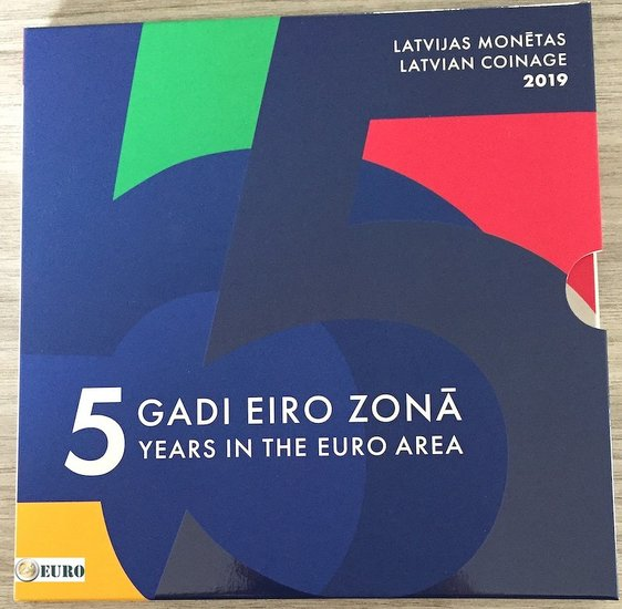 Série euro BU FDC Lettonie 2019