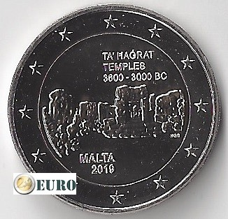 2 euros Malte 2019 - Temple Ta' Hagrat UNC poinçoin F
