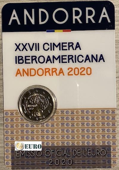 2 euro Andorra 2020 - Ibero-Amerikaanse top BU FDC Coincard