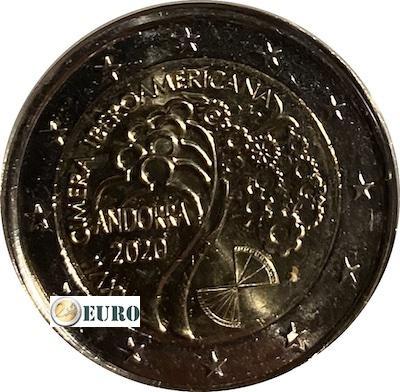 2 euro Andorra 2020 - Ibero-Amerikaanse top UNC