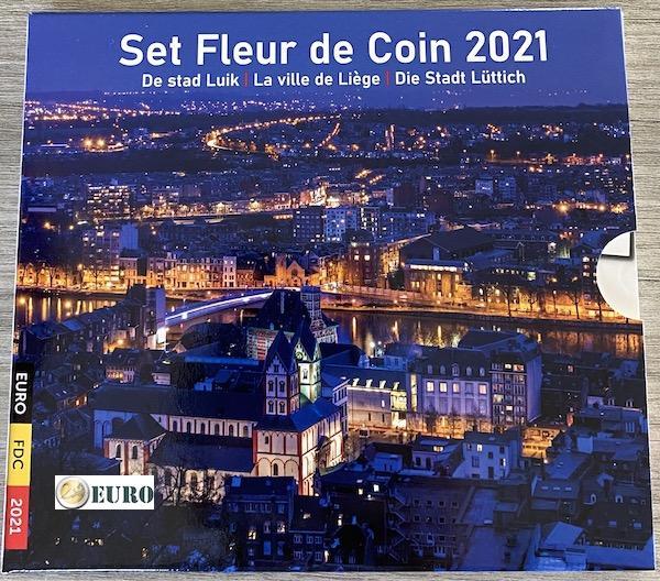 Euro set BU FDC Belgie 2021 Luik
