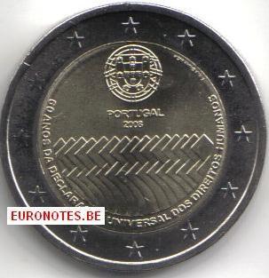 Portugal 2008 - 2 euro mensenrechten UNC