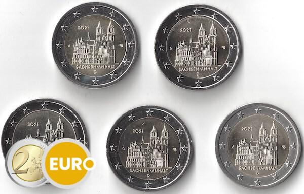2 euro Duitsland 2021 - ADFGJ Sachsen-Anhalt UNC