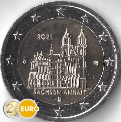 2 euro Duitsland 2021 - G Sachsen-Anhalt UNC