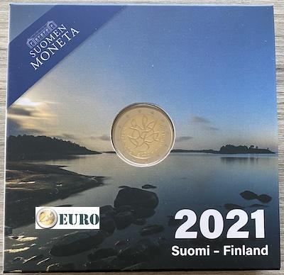 2 euros Finlande 2021 - Journalisme BE Proof