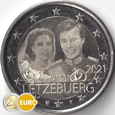2 euro Luxemburg 2021 - 40 jaar huwelijk Henri UNC foto