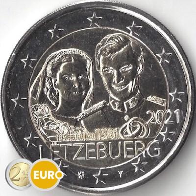 2 euro Luxemburg 2021 - 40 jaar huwelijk Henri UNC
