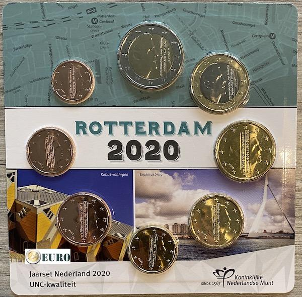 Euro set UNC Nederland 2020 Rotterdam