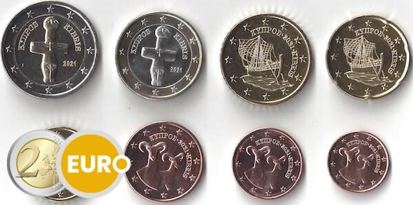 Série euro UNC Chypre 2021