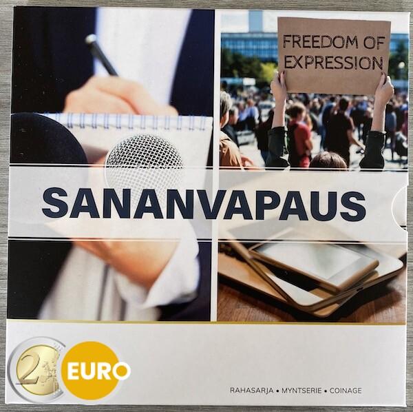 Série euro BU FDC Finlande 2021 liberté d'expression