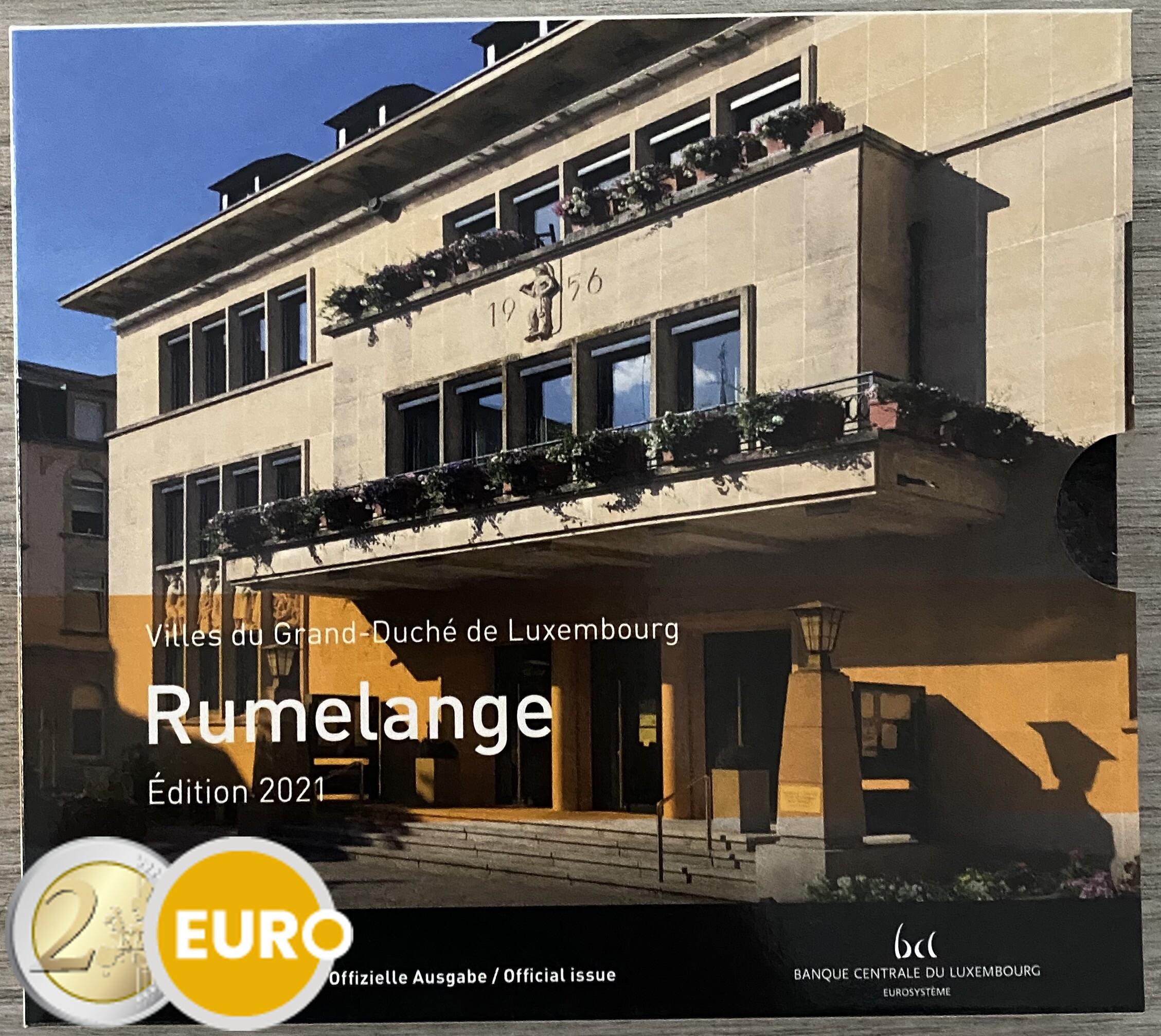 Euro set BU FDC Luxemburg 2021 Rumelange + 2 euro Huwelijk Henri foto