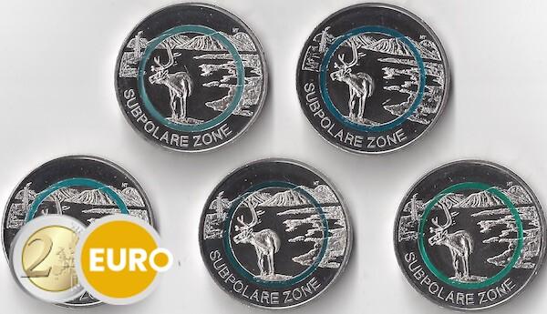 5 euro Duitsland 2020 - Subpolaire zone ADFGJ UNC