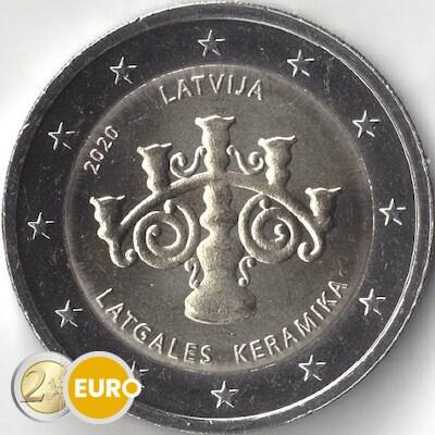 2 euros Lettonie 2020 - Céramique lettone UNC