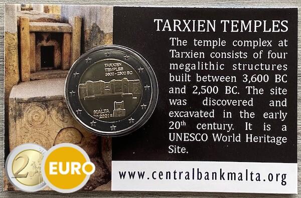 2 euros Malte 2021 - Temple Tarxien BU FDC Coincard Poinçon MdP